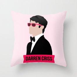 Darren Criss with pink shades! Throw Pillow