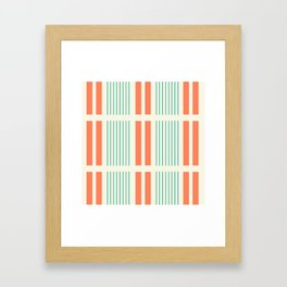 Ruptured Lines Framed Art Print