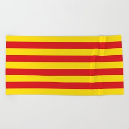 Catalan Flag - Senyera - Authentic High Quality Beach Towel