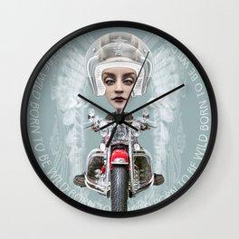 BORN TO BE WILD (1) Wall Clock
