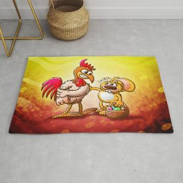 Easter Bunny in Trouble Rug