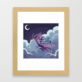 DRAGON RIDING Framed Art Print
