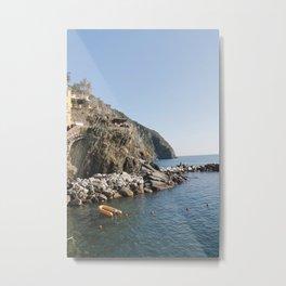 Riomaggiore's Waters. Metal Print