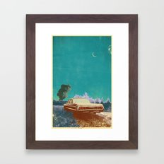 EVENING EXPLOSION Framed Art Print