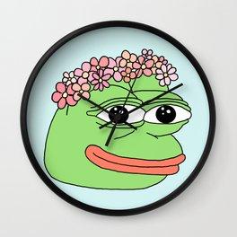 flower pepe Wall Clock