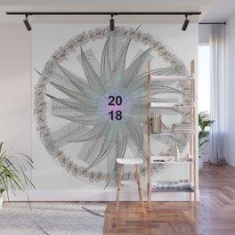 Kalender Calendar 2018 in a Circle Wall Mural