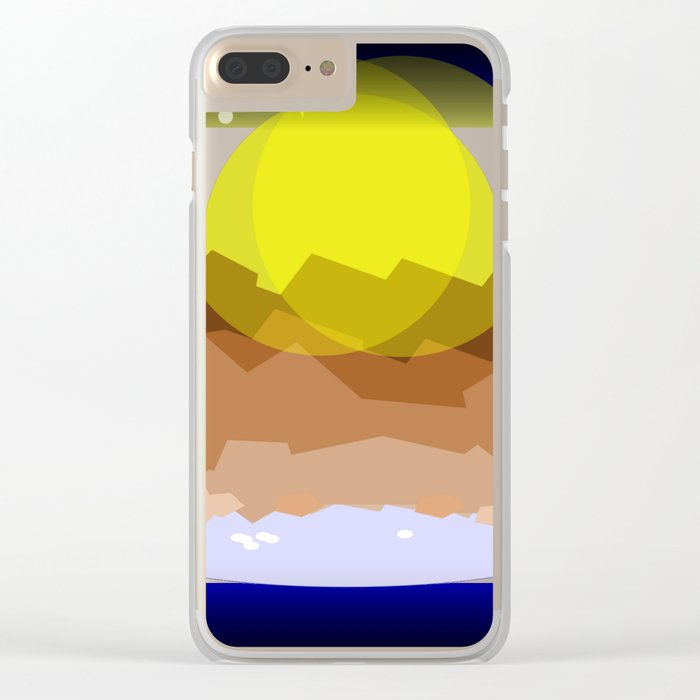 Midnight magical mountain Clear iPhone Case