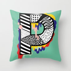 P for ... Throw Pillow
