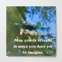 May you be blessed in ways you have yet to imagine. Metal Print