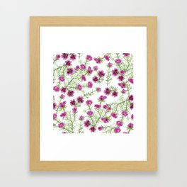 Portulacas pattern Framed Art Print