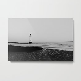 Black & white Lighthouse print Metal Print