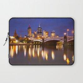 II - Skyline of Melbourne, Australia across the Yarra River at night Laptop Sleeve