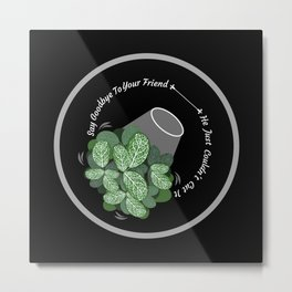 Terrified Houseplants - Good Omens Fanart Metal Print