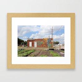Keep It Simple Mural Framed Art Print