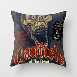 """""""Canticle of the Dead"""" Movie Poster Throw Pillow"""