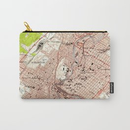 Vintage Map of Scranton Pennsylvania (1947) Carry-All Pouch