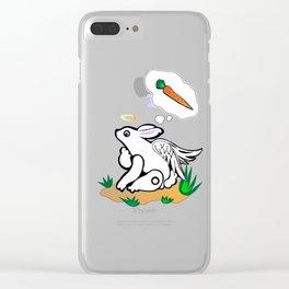 Cute Rabbit Clear iPhone Case