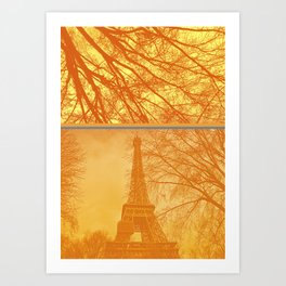 Paris Eiffel tower in winter Art Print