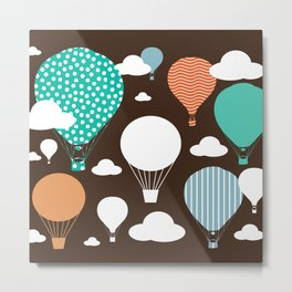 Hot air balloon chocolate Metal Print
