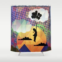 collage Shower Curtains featuring collage by mark ashkenazi