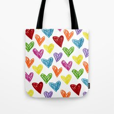 Hearts Parade Tote Bag
