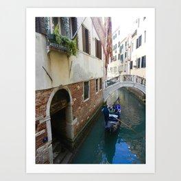 Gondola Ride Art Print