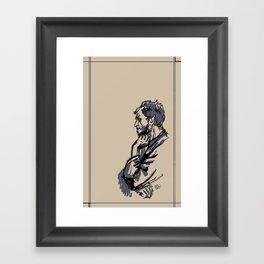 Floki Sketch Framed Art Print