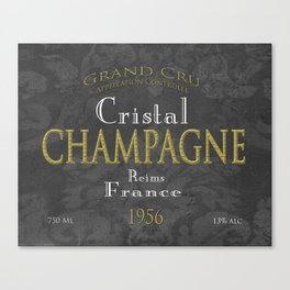 Vintage Wine Label Print (Champagne) Canvas Print