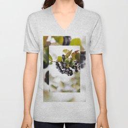 Chokeberries or aronia fruits Unisex V-Neck
