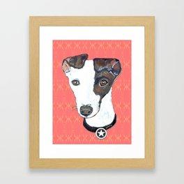Greyhound Portrait Framed Art Print