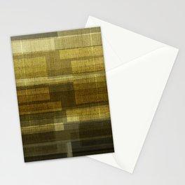 """Burlap Texture Greenery Shades"" Stationery Cards"