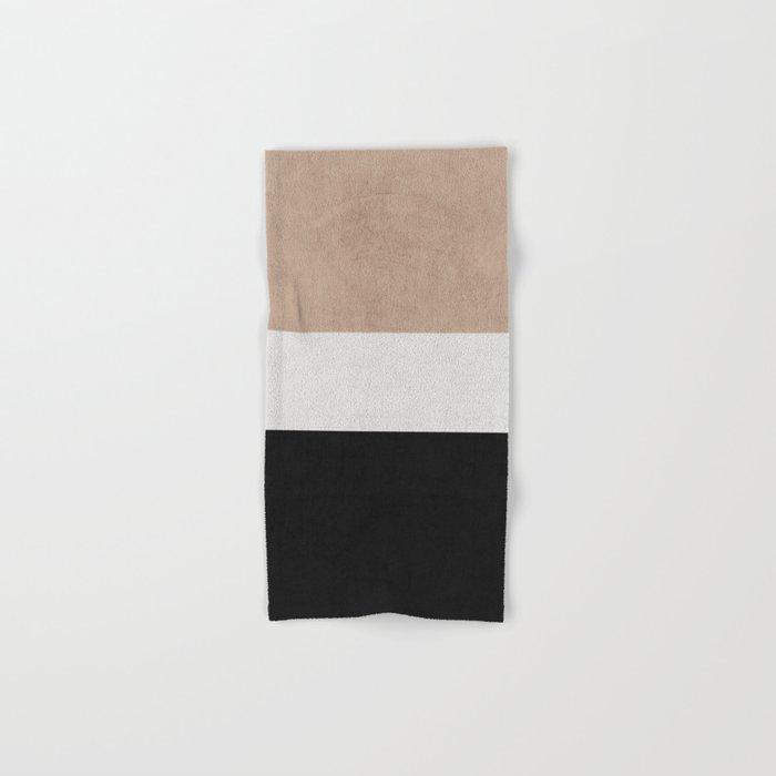 classic - natural, cream and black Hand & Bath Towel