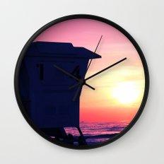 Mission Beach Sunset Wall Clock