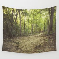 woods Wall Tapestries featuring woods by Bonnie Jakobsen-Martin
