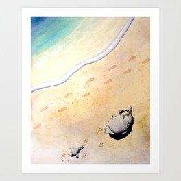Last Footprints Art Print
