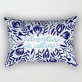 Adventure is Calling – Porcelain Palette Rectangular Pillow