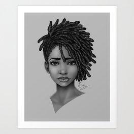 Locs style Art Print
