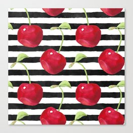 Cherry pattern Canvas Print