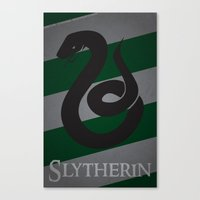 slytherin Canvas Prints featuring Slytherin by Fanboy's Canvas
