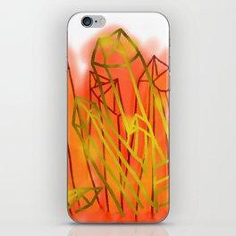 Crystals - Orange iPhone Skin