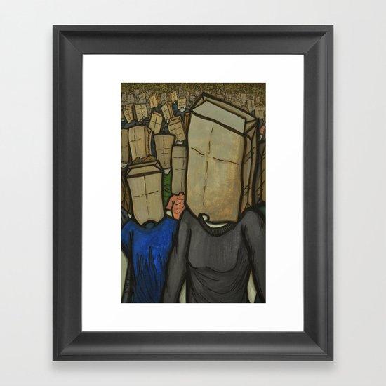 No Face, No Name Framed Art Print