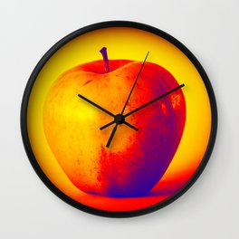 Hot and cold apple Wall Clock