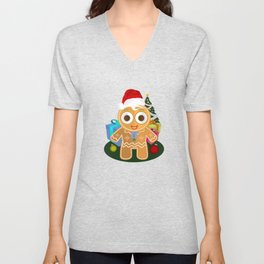 Christmas - Ginger Bread Man Unisex V-Neck