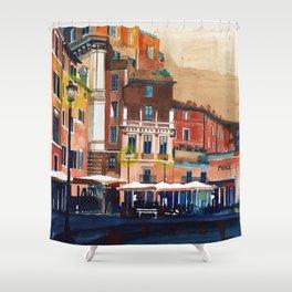 Campo de Fiori Rome Shower Curtain