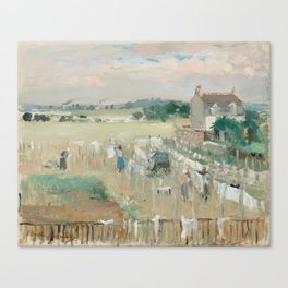 Hanging the Laundry out to Dry by Berthe Morisot Canvas Print