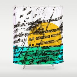- the sunset - Shower Curtain