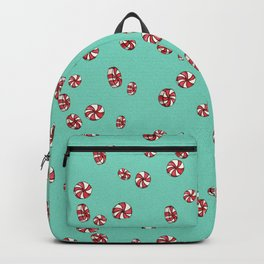 Peppermint Candy in Aqua Backpack