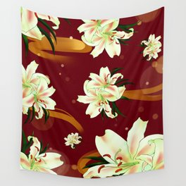 Water Lily Blossom Wonderland Wall Tapestry