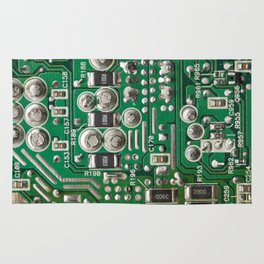 Circuit Board Macro Rug