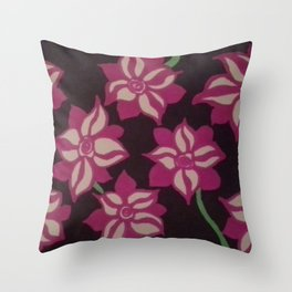Night Blooming Dahlia Throw Pillow